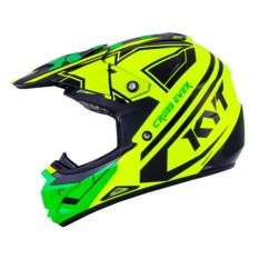 Helm KYT Cross Over K Racing Yellow Fluo / Green Fluo