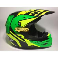 Helm KYT Cross Over KRC Super Fluo ED Yellow Fluo Green Fluo Trail