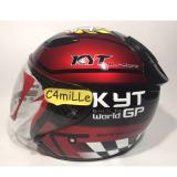 Helm Kyt Dj Maru 11 Red Maroon Black Half Face Di Indonesia
