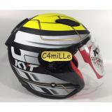 Promo Helm Kyt Dj Maru 13 Black Matt Yellow Half Face