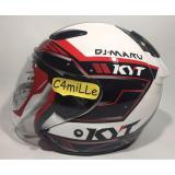 Jual Helm Kyt Dj Maru 9 White Red Half Face Branded