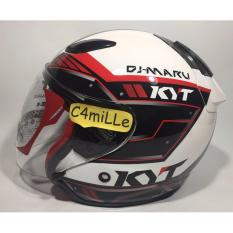 Diskon Helm Kyt Dj Maru 9 White Red Half Face Kyt Di Indonesia