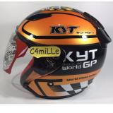 Model Helm Kyt Dj Maru Motif 11 Black Bumble Bee Half Face Terbaru