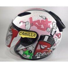 Ulasan Mengenai Helm Kyt Dj Maru Motif 5 White Pink Half Face