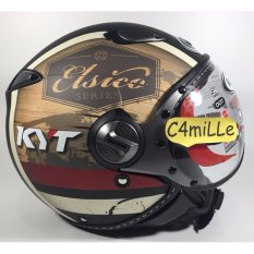 HELM KYT ELSICO RETRO PILOT #4 BLACK DOP CREAM
