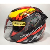 Jual Helm Kyt Galaxy Circuit Cataluya Double Visor Half Face Branded
