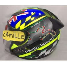 HELM KYT GALAXY SLIDE MOTIF CIRCUIT PHILLIP ISLAND HALF FACE DOUBLE VISOR HALF FACE
