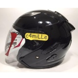 Helm Kyt Galaxy Slide Black Double Visor Half Face Original