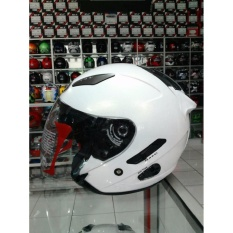 HELM KYT Galaxy Solid White / putih
