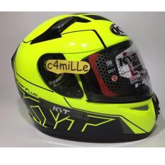 Ulasan Lengkap Helm Kyt K2 Rider 1 Super Fluo Ed Yellow Fluo Double Visor Full Face