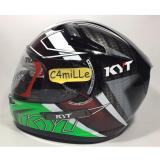 Spek Helm Kyt K2 Rider Spotlight Black Green Fluo Double Visor Full Face Dki Jakarta