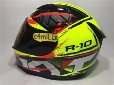 HELM KYT R10 #2 YELLOW FLUO BLACK RED FLUO FULL FACE