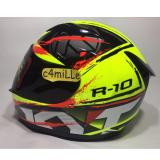 Berapa Harga Helm Kyt R10 2 Yellow Fluo Black Red Fluo Full Face Kyt Di Indonesia