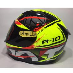 Jual Helm Kyt R10 2 Yellow Fluo Black Red Fluo Full Face Kyt