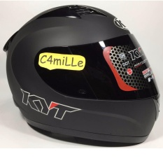 HELM KYT R10 R 10 SOLID BLACK DOFF FULL FACE