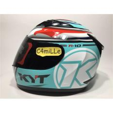 HELM KYT R10 SUPER FLUO AQUA BLUE RED FLUO FULL FACE
