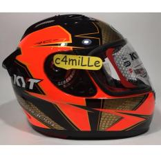 HELM KYT RC 7 MOTIF #16 RED FLUO BLACK FULL FACE RC7