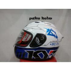 HELM KYT RC 7 RC SEVEN #11 WHITE BLACK BLUE RC7