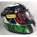 Spesifikasi Helm Kyt Rc7 Rc 7 Motif 11 White Black Green Full Face Dan Harga