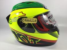HELM KYT RC7 RC 7 RC SEVEN ITALY YELLOW FLUO #15 FULL FACE