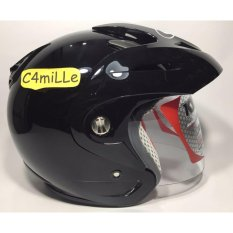 Review Helm Kyt Romeo Solid Black Half Face