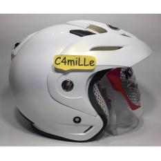 HELM KYT ROMEO SOLID WHITE HALF FACE