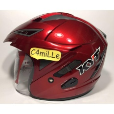 Promo Helm Kyt Scorpion King Solid Red Maroon Double Visor Di Indonesia