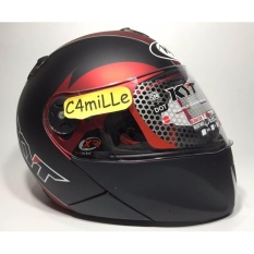 Jual Helm Kyt X Rocket Xrocket Red Maroon Black Dop Full Face Murah