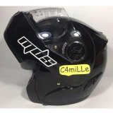 Harga Helm Mds Pro Rider Solid Black Modular Full Satu Set