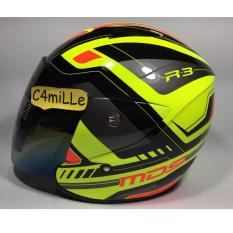 HELM MDS R3 RACE FLUO EDITION YELLOW FLUO RED FLUO HALF FACE