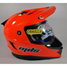 HELM MDS SUPER PRO SOLID RED FLUO DOUBLE VISOR CROSS TRAIL
