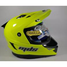 HELM MDS SUPER PRO SOLID YELLOW FLUO DOUBLE VISOR CROSS TRAIL