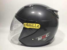 HELM MODEL INK CENTRO GUN METAL HALF FACE KNC MURAH