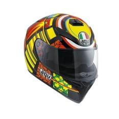 Helm Motor Full Face Fullface AGV K3 Sv Top Elements Valentino Rossi VR 46 Ducati 2011-2012 ORIGINAL