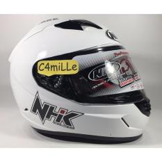 Perbandingan Harga Helm Nhk Gp1000 White Double Visor Nhk Di Dki Jakarta