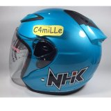Review Pada Helm Nhk R6 Ice Blue Half Face