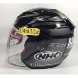 Toko Helm Nhk R6 Rally Black Silver Half Face Online Di Indonesia