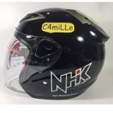 Diskon Helm Nhk R6 Solid Black Half Face Nhk Indonesia