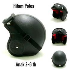 helm retro anak dengan standard SNI design menarik nyaman dan aman buat buah hati anda