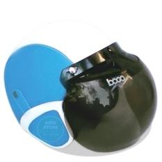 Helm Retro Bogo Kulit Klasik Produk UKM Lokal Kaca Optical BOGO Original - Biru Muda Putih