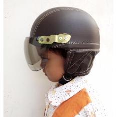 Jual Helm Retro Broco Clasik Anak Coklat Baru