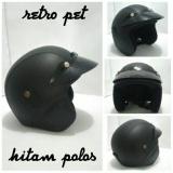Harga Helm Retro Klasik Full Synthetic Jap Style Pet Hitam Polos Helm Retro Ori