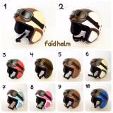 Diskon Helm Retro Kulit Unik Klasik Kaca Mata Gogle