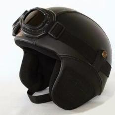 Spesifikasi Helm Retro Kulit Unik Klasik Kaca Mata Helm Retro Kulit Clasic Vespa Lengkap