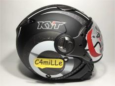 Helm Retro Kyt Elsico 1 Black Dop Gun Metal By Tonoko.