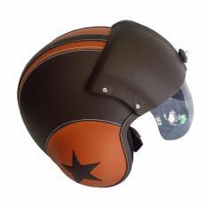 Helm Retro Pilot Pet Visor Limited Edition - Kombinasi