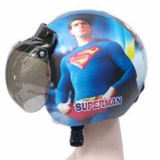 Helm Standart Bogo Anak Karakter Usia 2-6 Tahun Superman