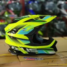 Helm Zeus Adventure Z912 AF3 Fluo Yellow / Black / Green (Fiber glass) Original
