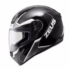 Harga Hemat Helm Zeus Fullface Zs 811 Black Al6 Grey