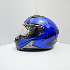 Jual Beli Helm Zeus Fullface Zs 811 Yamaha Blue Al6 Black
